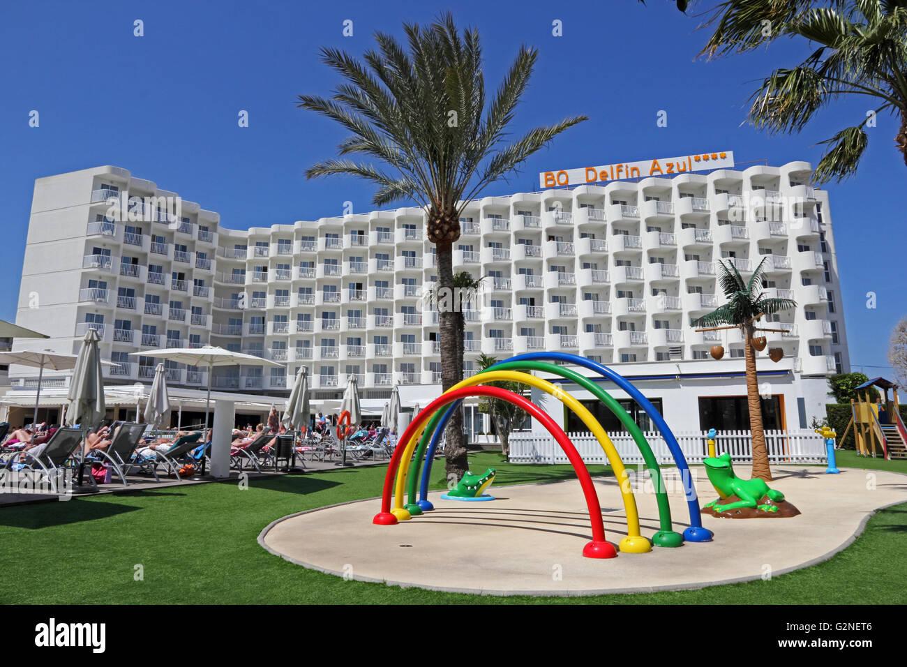 BQ Delfin Azul hotel, Alcudia, Mallorca - Stock Image