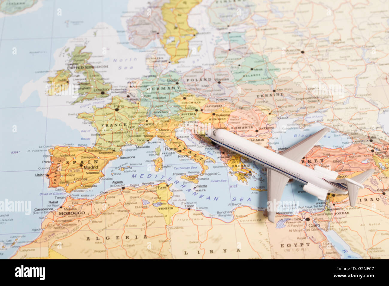 Miniature Travel Map Europe Stock Photos Miniature Travel Map