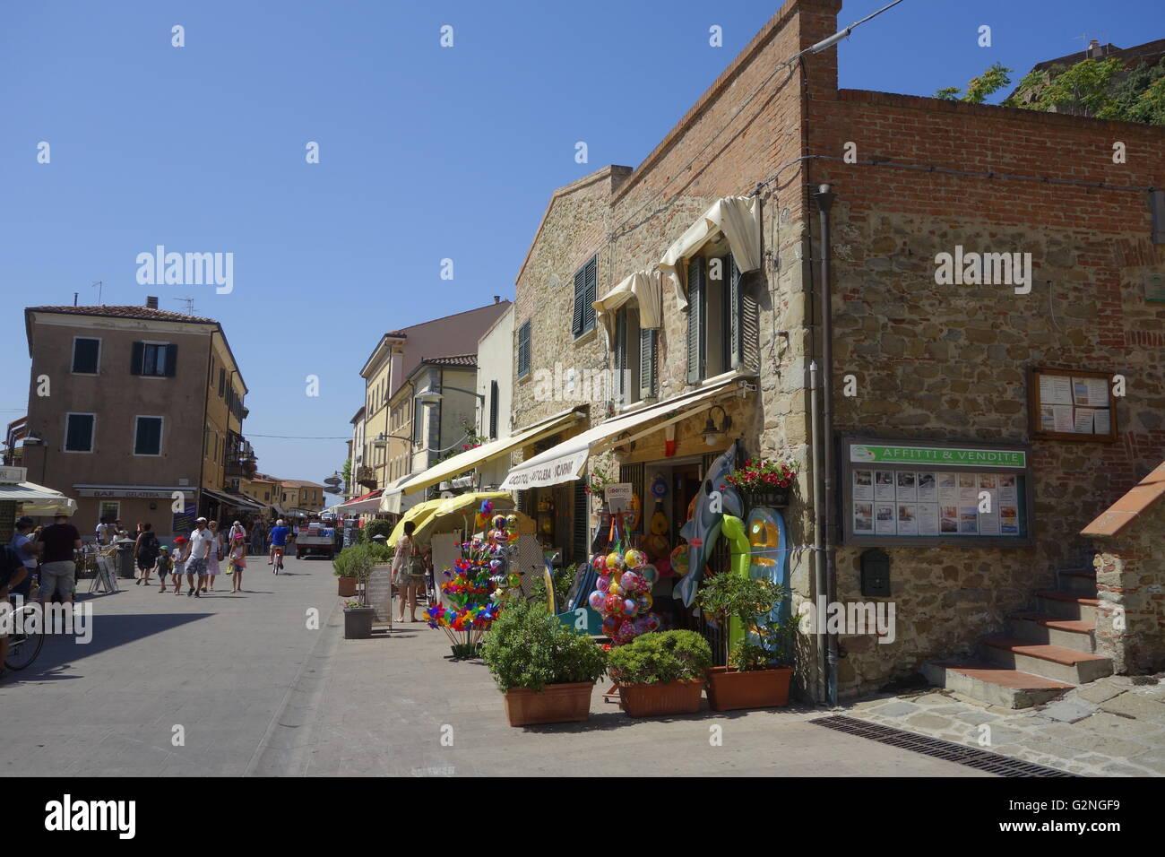 The pretty seaside town of Castiglione della Pescaia in the province of Grosseto, Tuscany Italy. Stock Photo