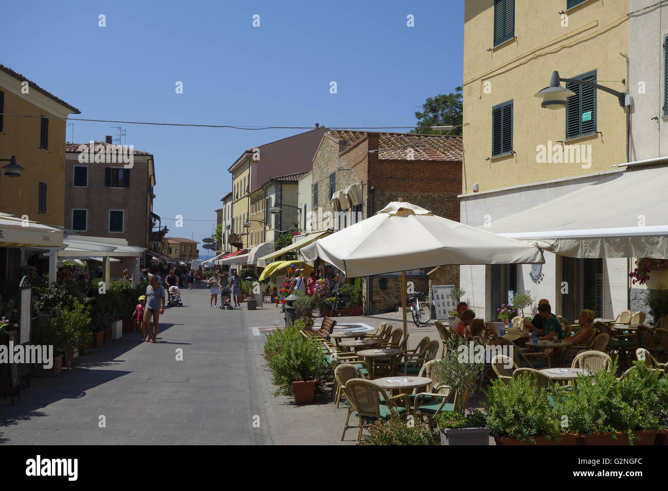 The pretty seaside town of Castiglione della Pescaia in the province of Grosseto, Tuscany Italy. Stock Photo