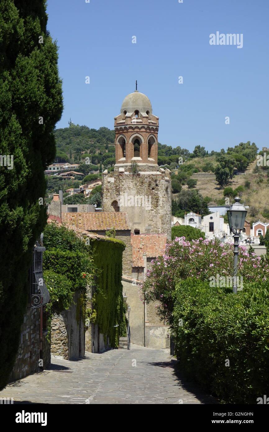 The church of San Giovanni Battista, Castiglione della Pescaia in the province of Grosseto, Tuscany Italy. Stock Photo