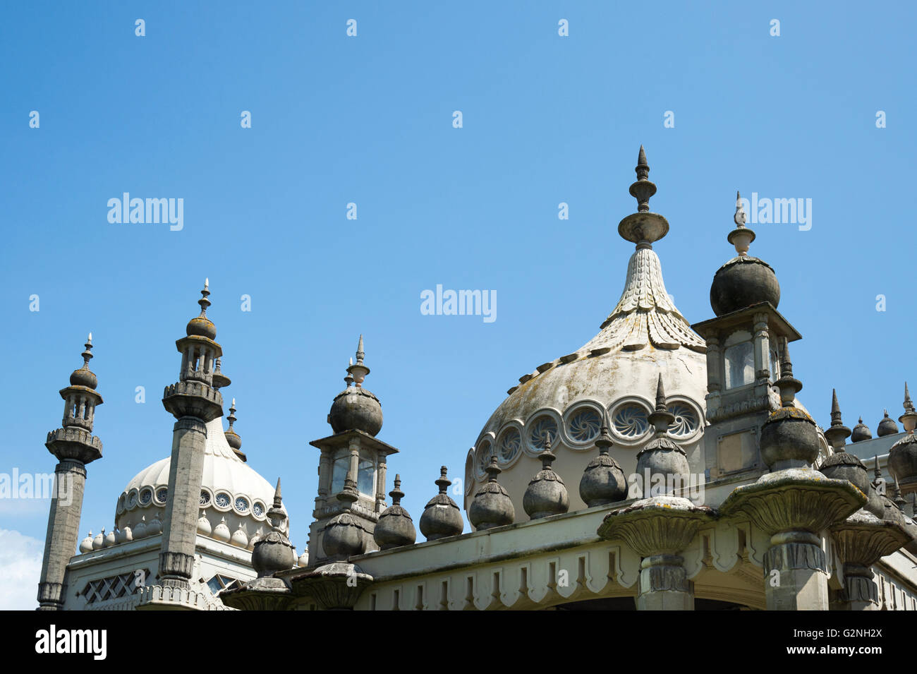 Domes on the top of Brighton pavillion - Stock Image