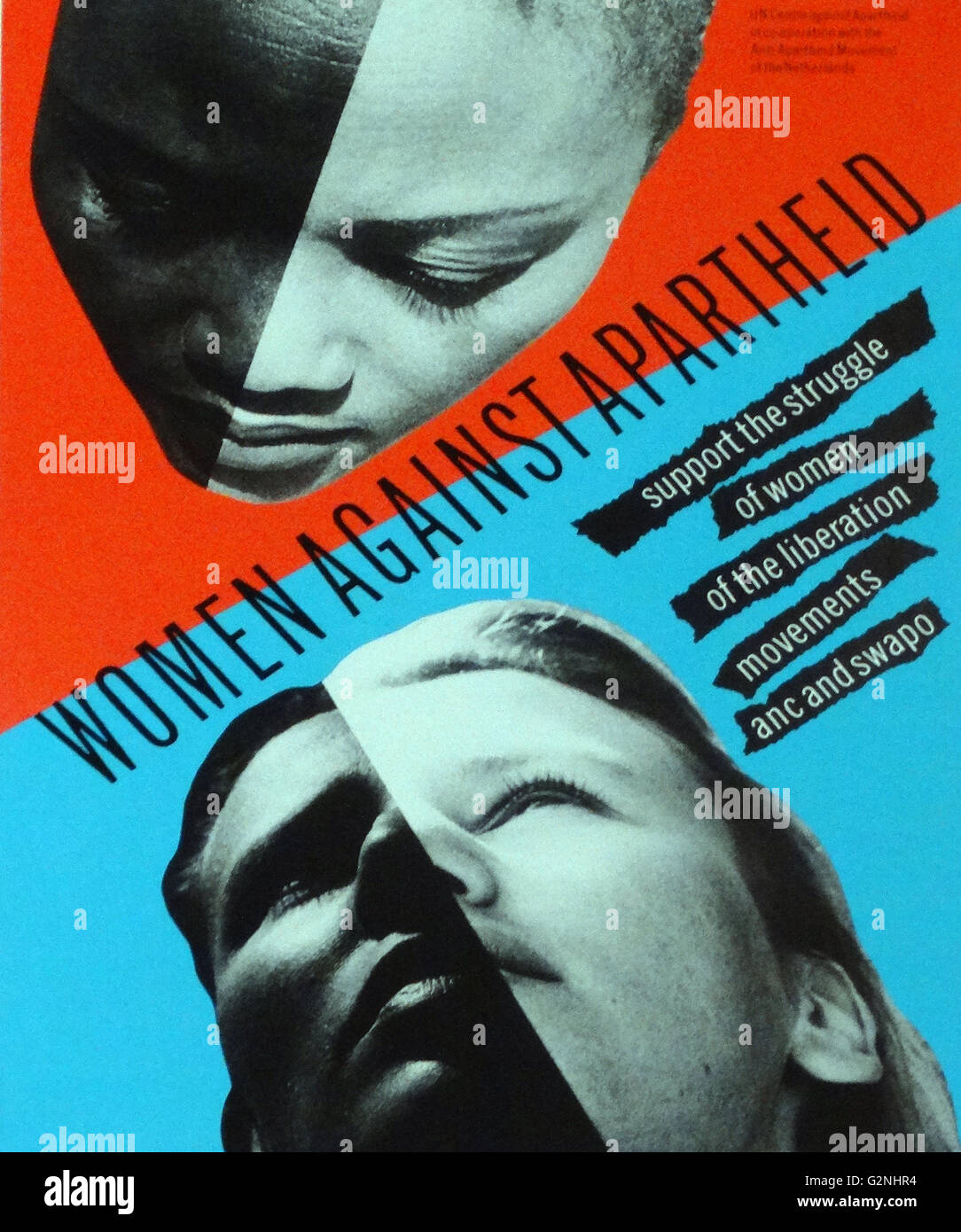 Poster for Women against Apartheid - Stock Image
