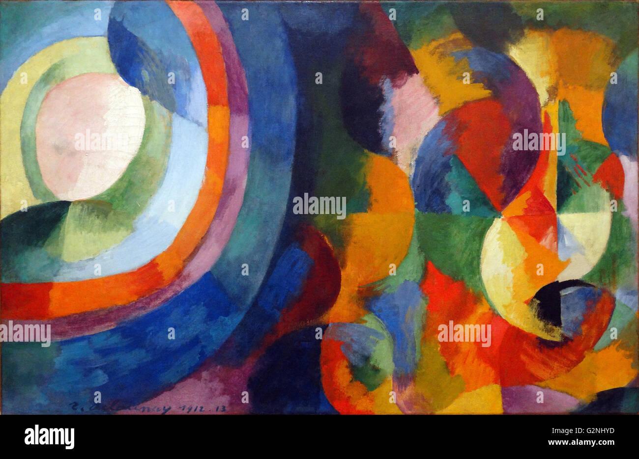 Circular forms, Sun, Moon by Robert Delaunay - Stock Image