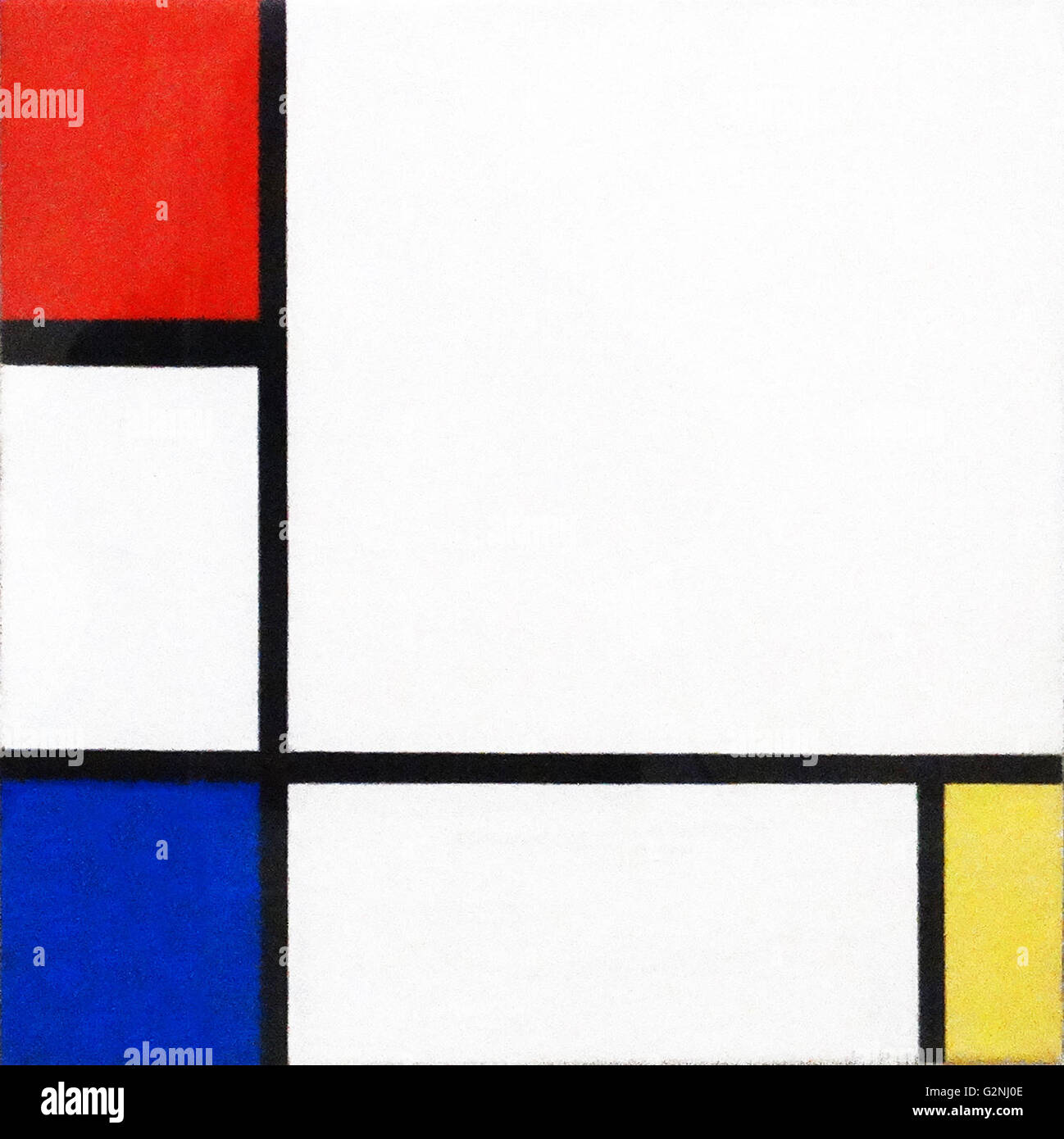 Composition No. IV with Red, Blue and Yellow by Piet Mondrian - Stock Image