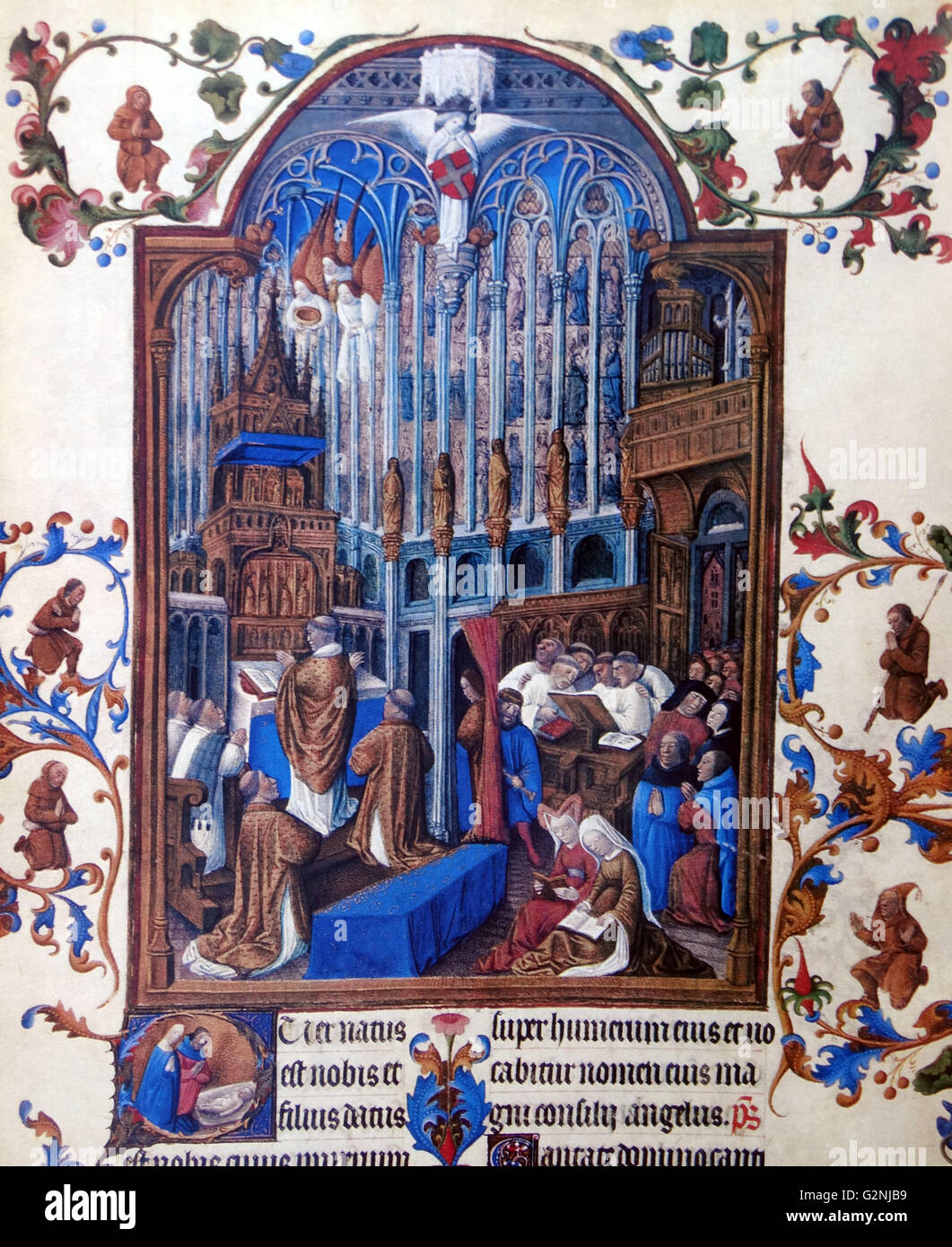 Miniature from the Très Riches Heures - Stock Image