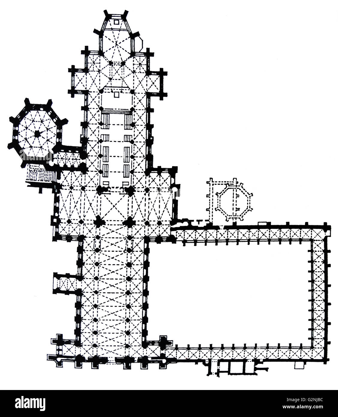 Wells Cathedral Floor Plan Stock Photo: 104966944 - Alamy