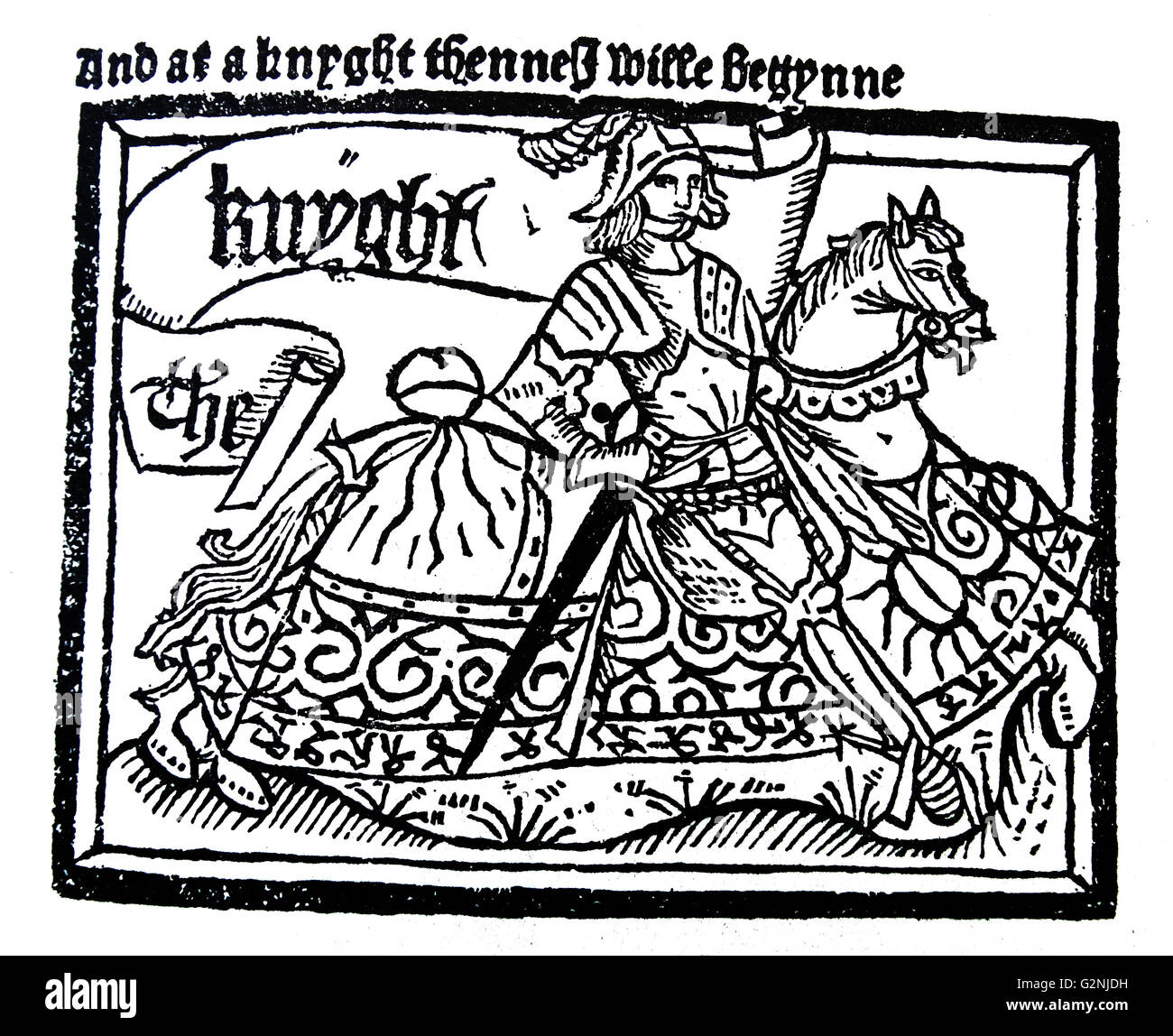 The Chaucer's Knight, from the Canterbury Tales - Stock Image