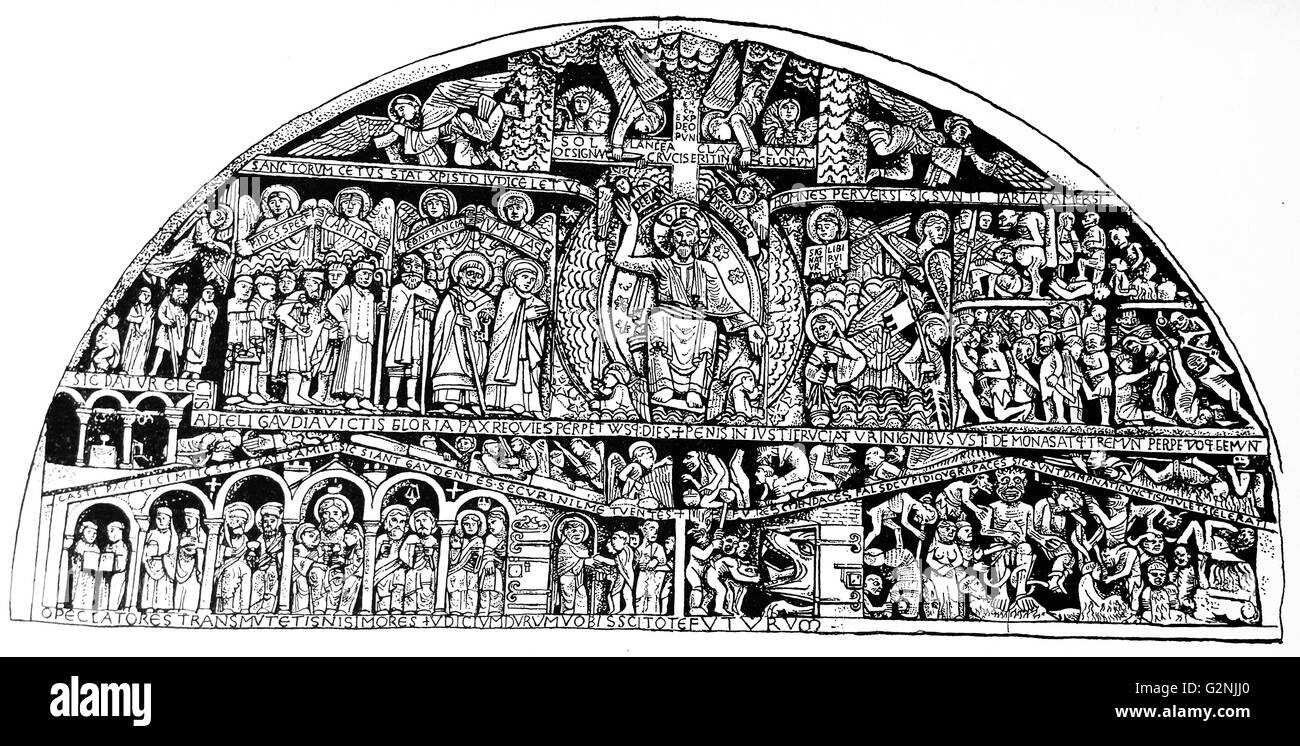 The Tympanum of Conquest - Stock Image