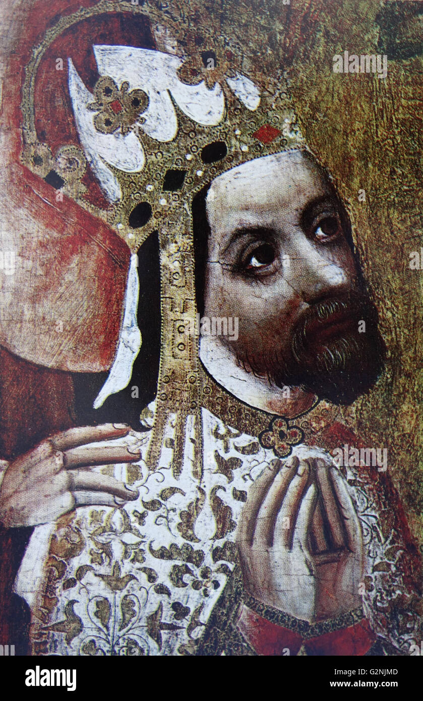 Portrait of the Emperor Charles IV - Stock Image