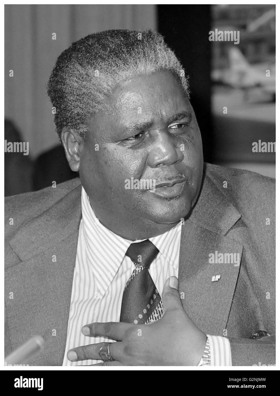 Joshua Nkomo, leader of the Zimbabwe African People's Union - Stock Image