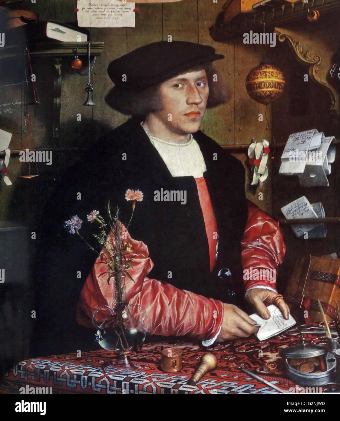 Portrait of Georg Gisze - Stock Image
