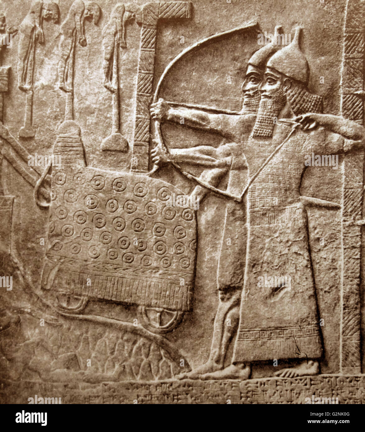 The Central Palace of Nimrud. - Stock Image