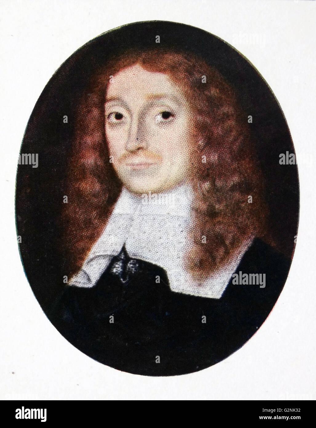 John Milton (1608-1674), artist unknown. - Stock Image