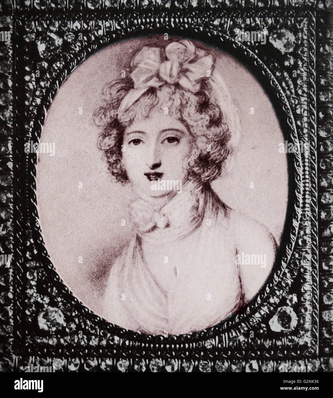 Madame Du Barry (1746-1793) by Richard Cosway (1742-1821) - Stock Image