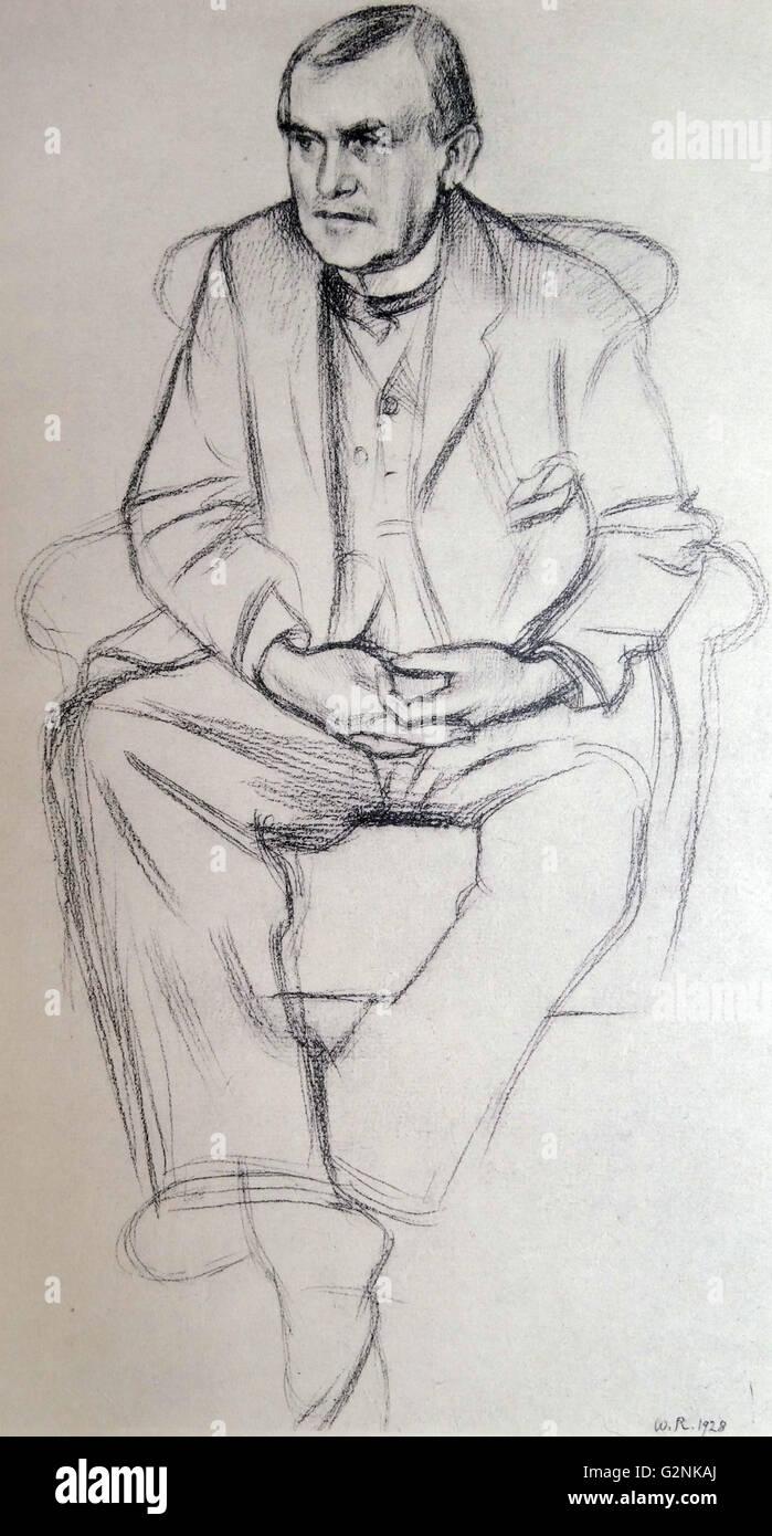 Portrait of Philip Wilson Steer - Stock Image