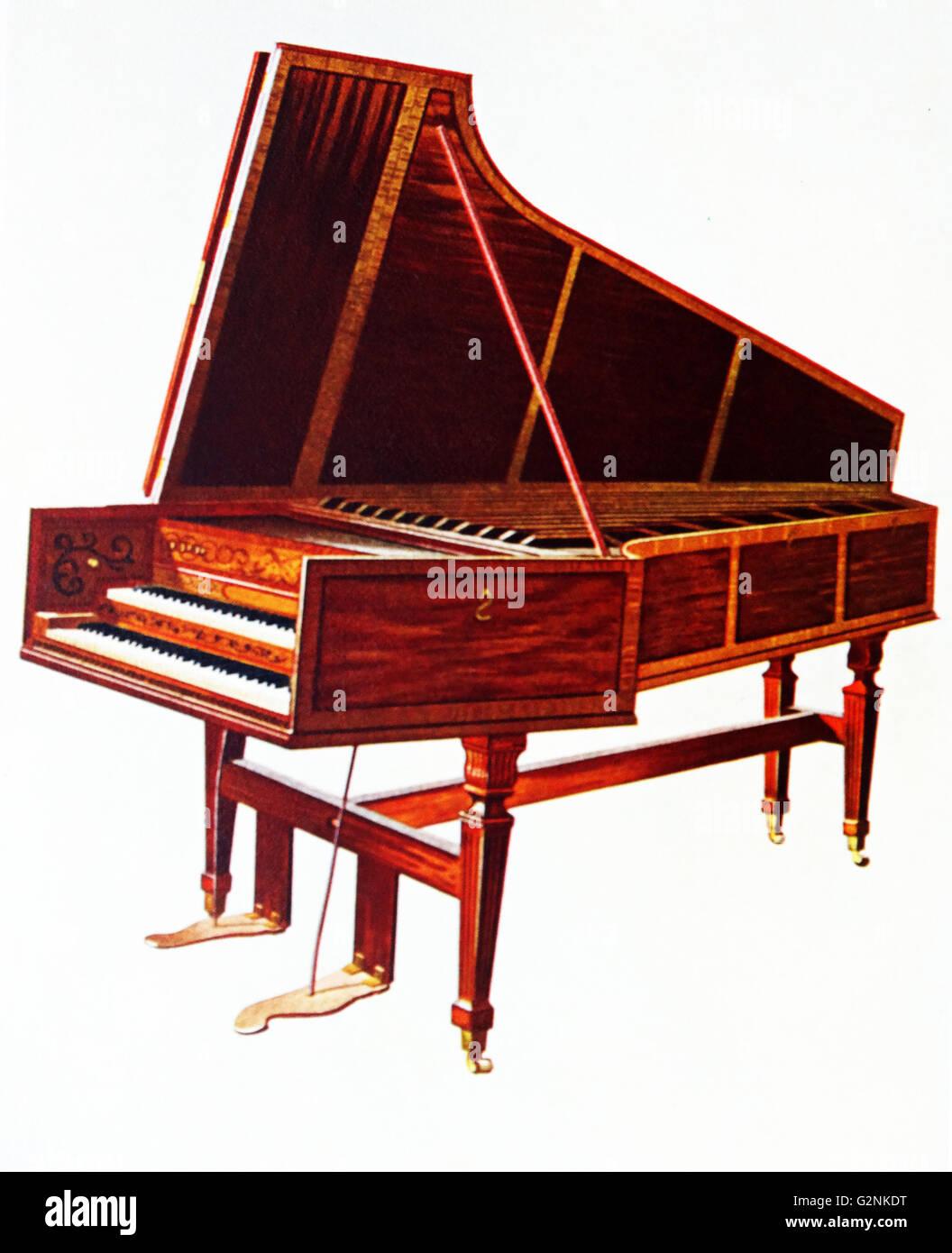 The Empress Harpsichord - Stock Image