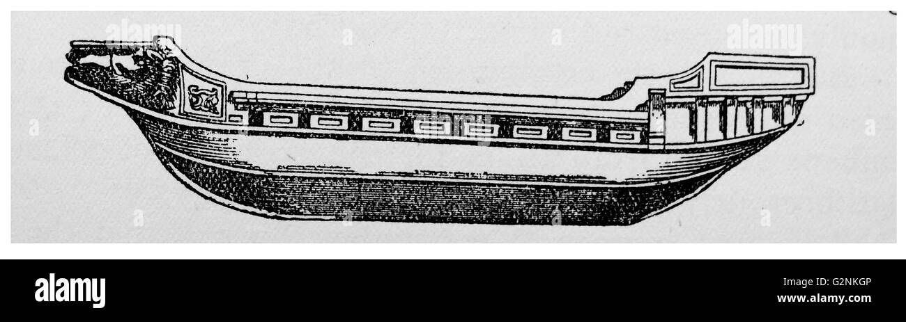 Hull of a Roman Merchant-ship. - Stock Image