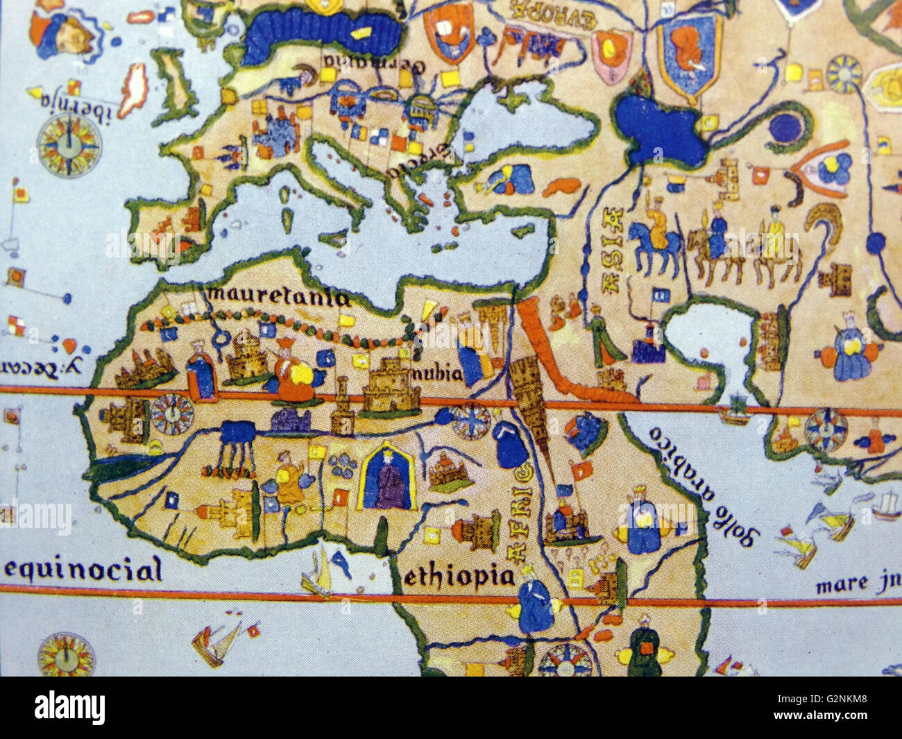 Picture of: Detail From Map Of The World Drawn 1500 The First To Show America Stock Photo Alamy
