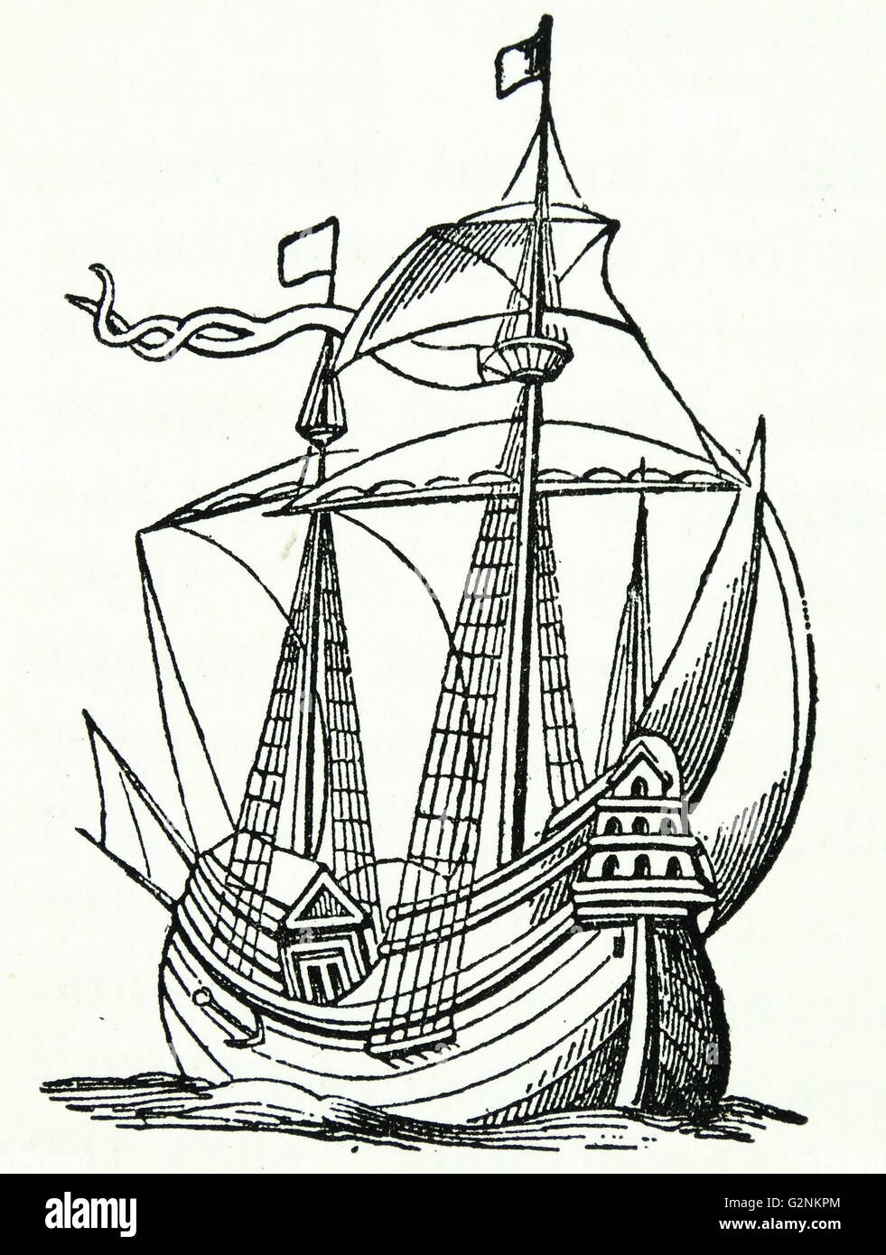 A ship of the late 16th century - Stock Image