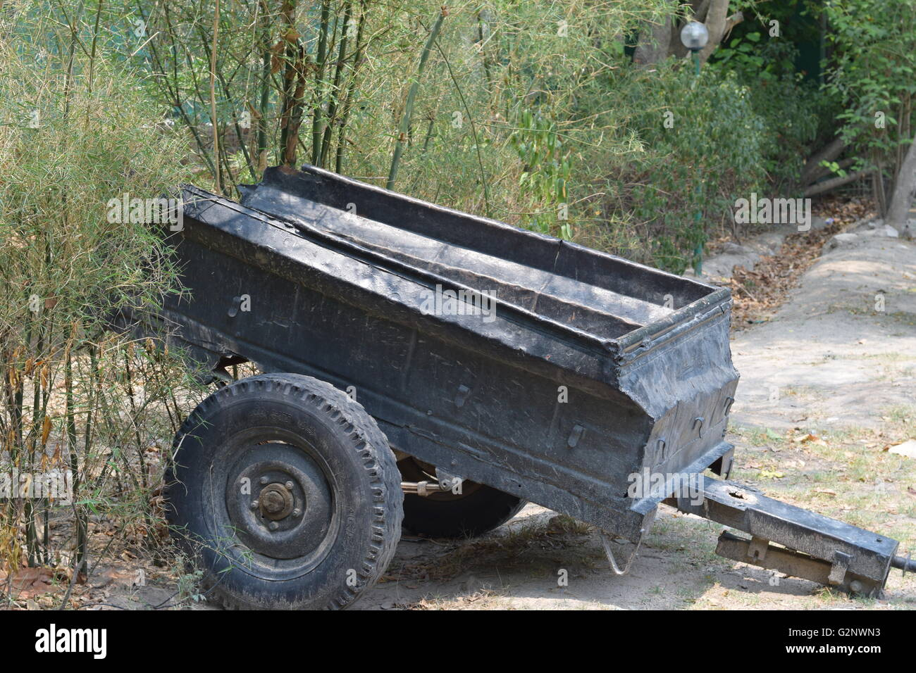 Old vehicle, junk, rusted vehicle, old trolley - Stock Image