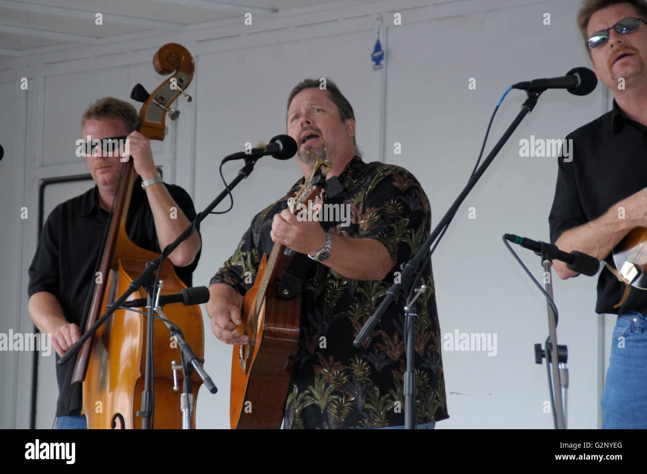 One of the bands Randy Waller and the Country Gentlemen play at the bluegrass festival in Deale, Maryland - Stock Image