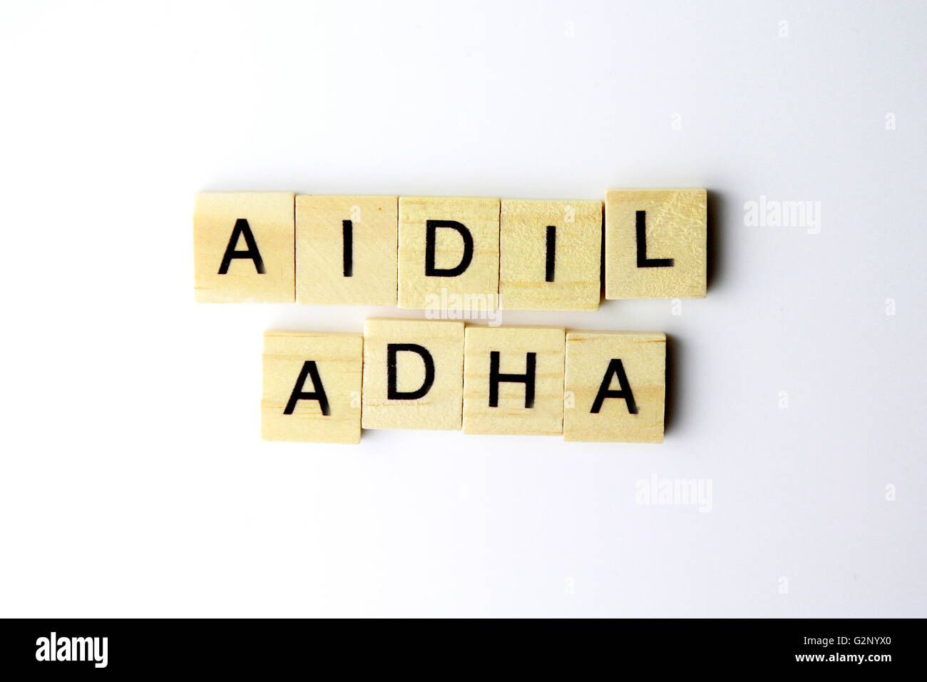 Eid al-Adha, also called the 'Sacrifice Feast', is the second of two Muslim holidays celebrated worldwide - Stock Image