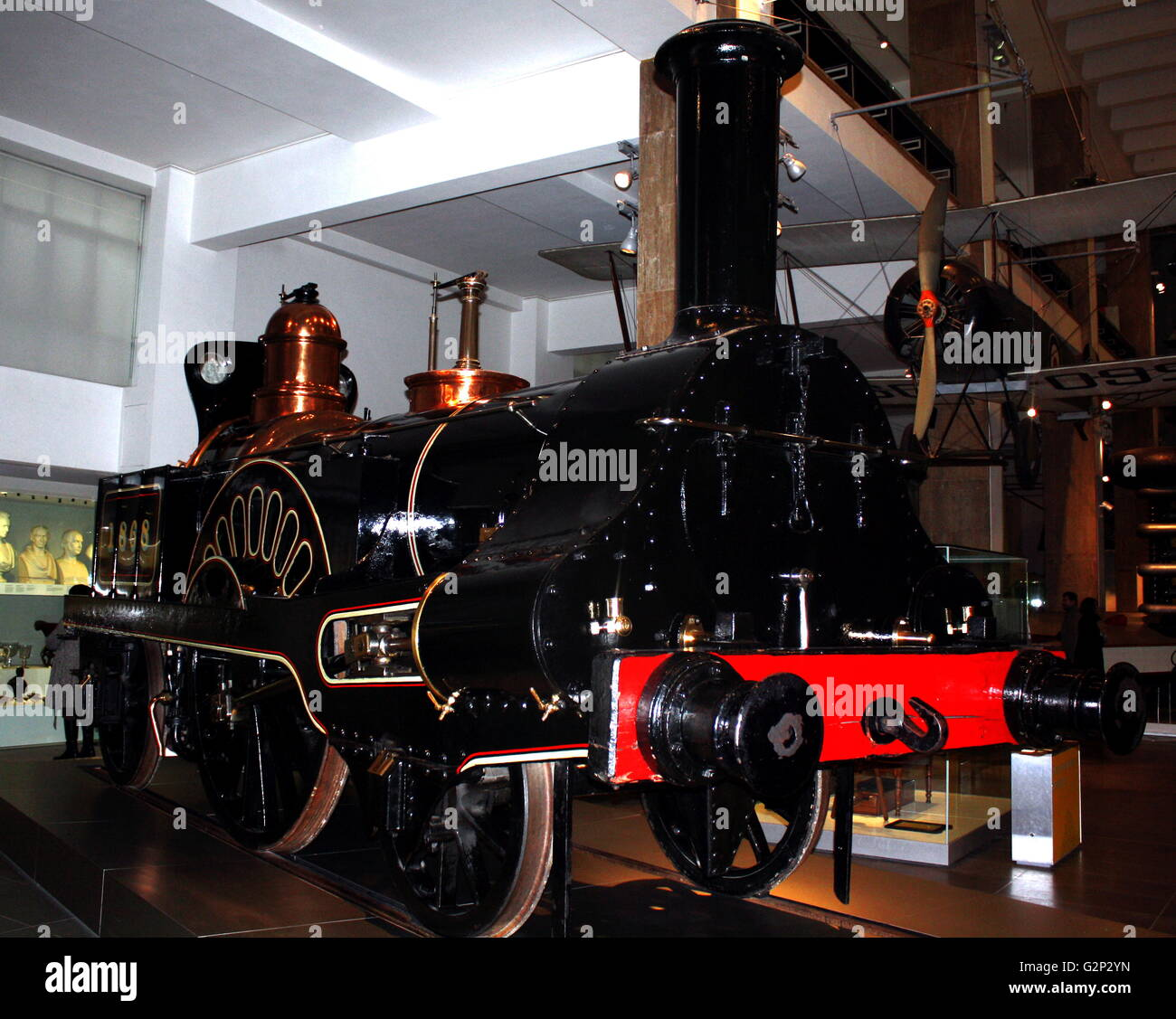 Antique Grand Junction Railway locomotive. - Stock Image