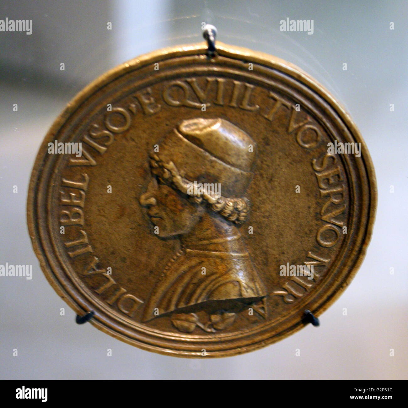 Self portrait of Lysippus the Younger on a coin. - Stock Image