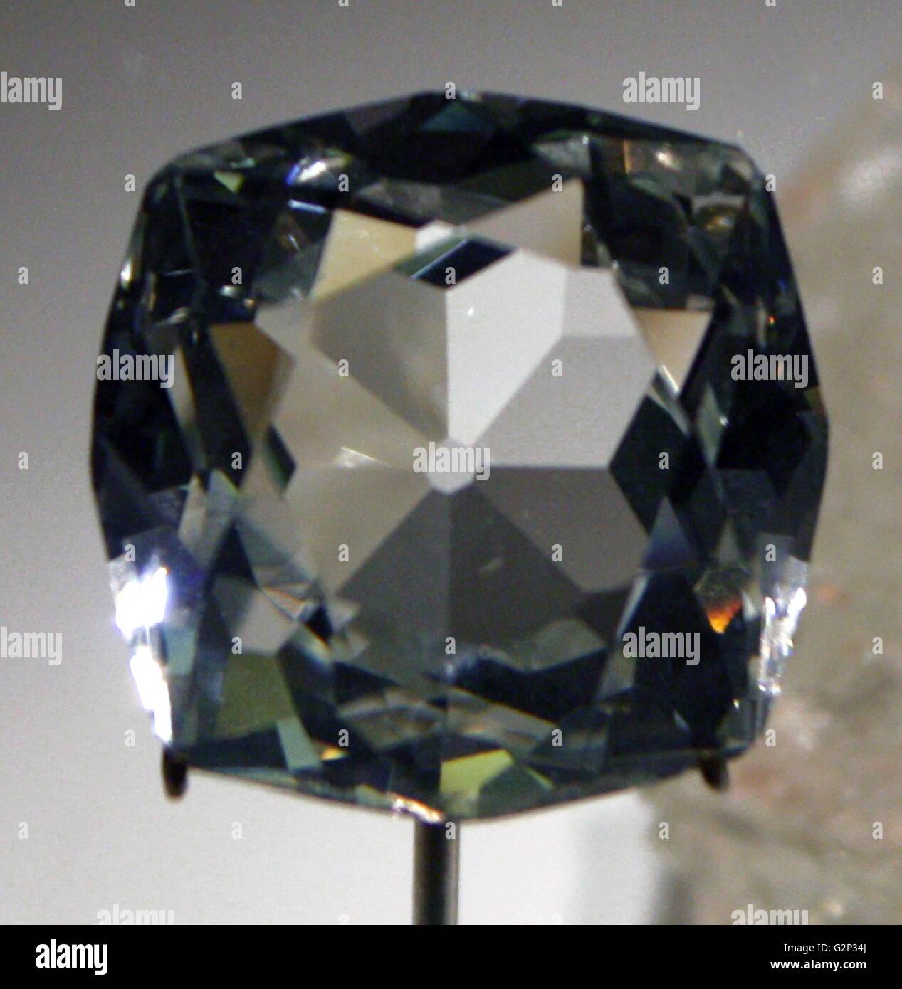 The Scotch Koh-i-Noor, an 88 carat Goshenite Beryl - Stock Image