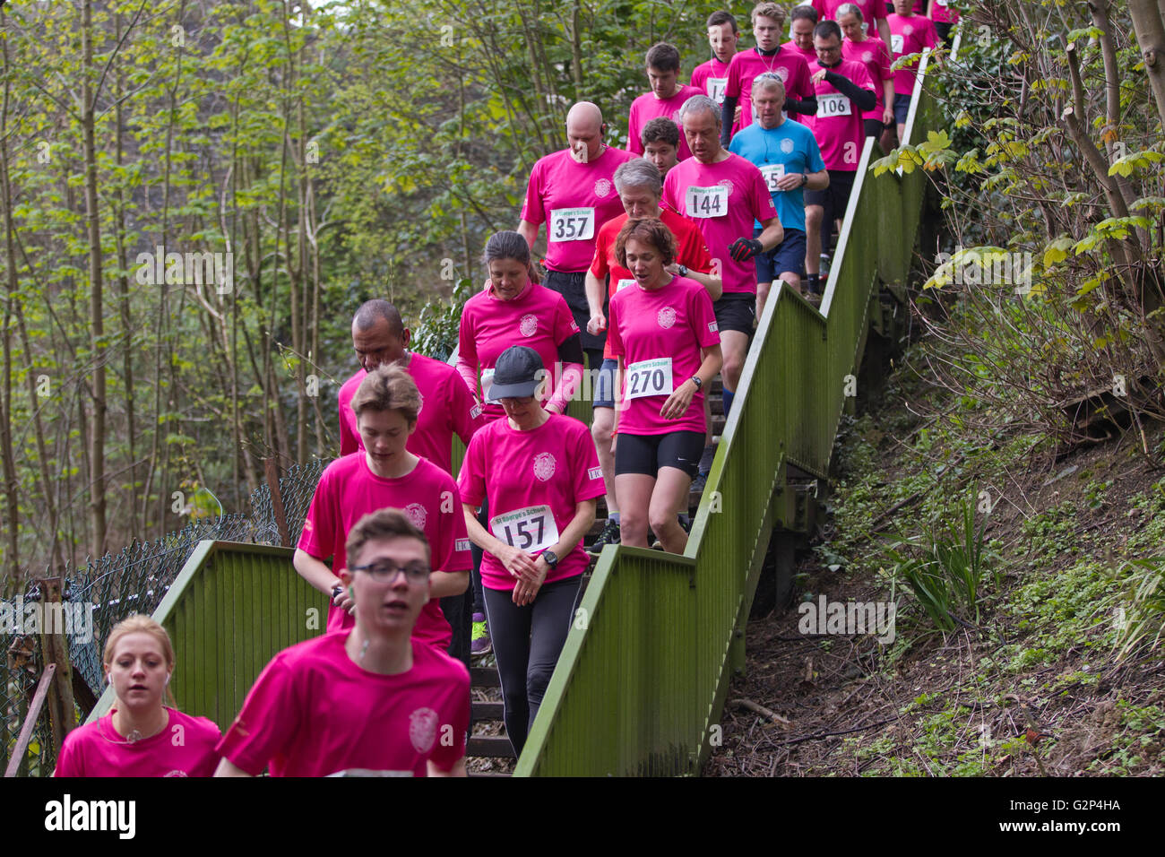 St Georges School Great Curry Run, Harpenden, Hertfordshire, England, UK - Stock Image