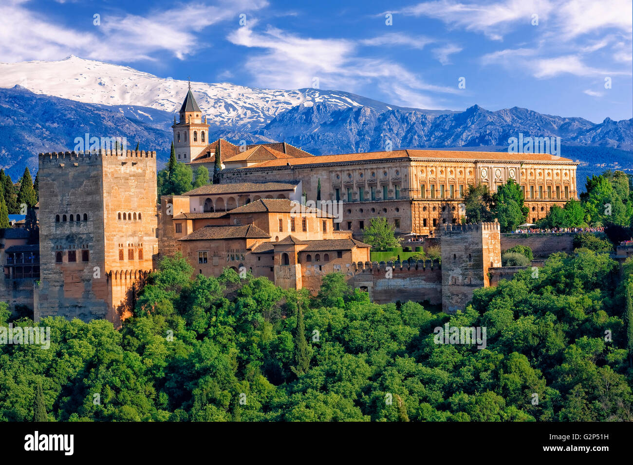 The Alhambra palace in Granada - Stock Image