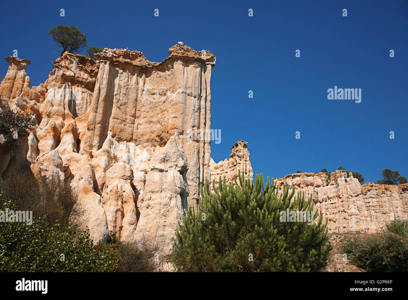 Les Orgues Sandstone Pillars Eroded By Water And Wind Ille Sur Tet