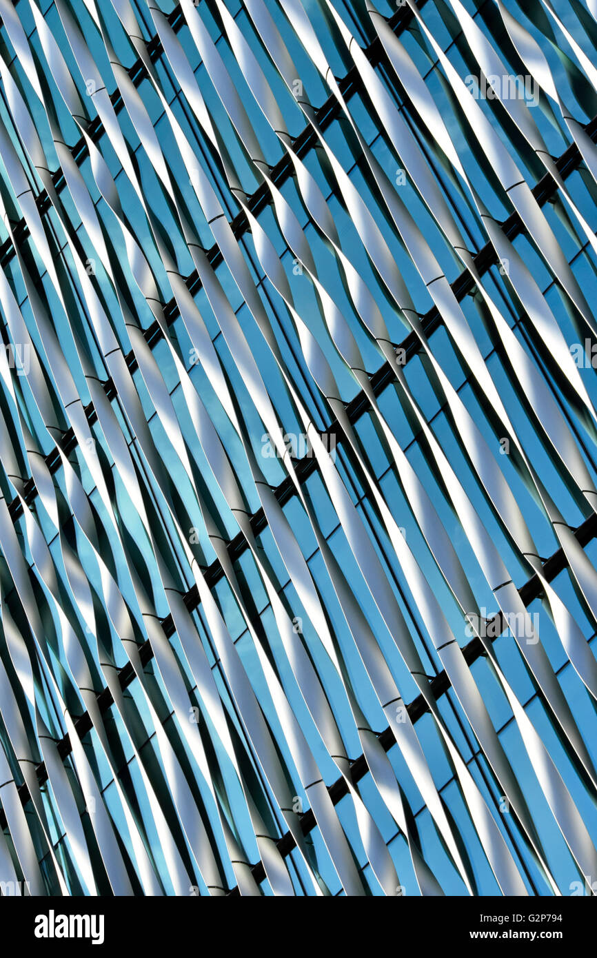 Abstract modern architecture background pattern formed of external facade of office building London England UK - Stock Image