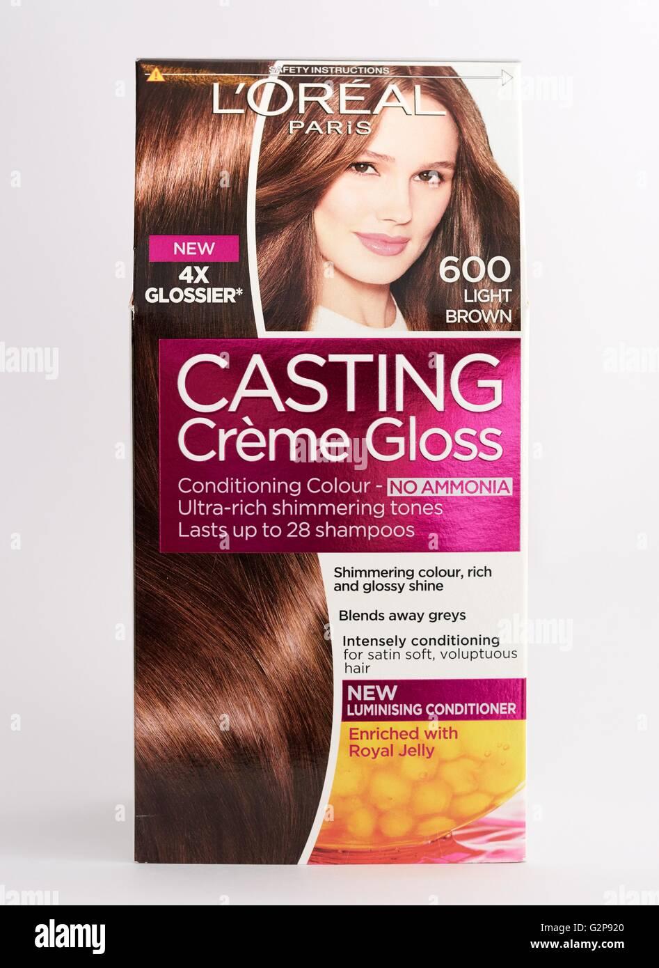 Loreal Hair Dye Casting Creme Stock Photos Loreal Hair Dye Casting
