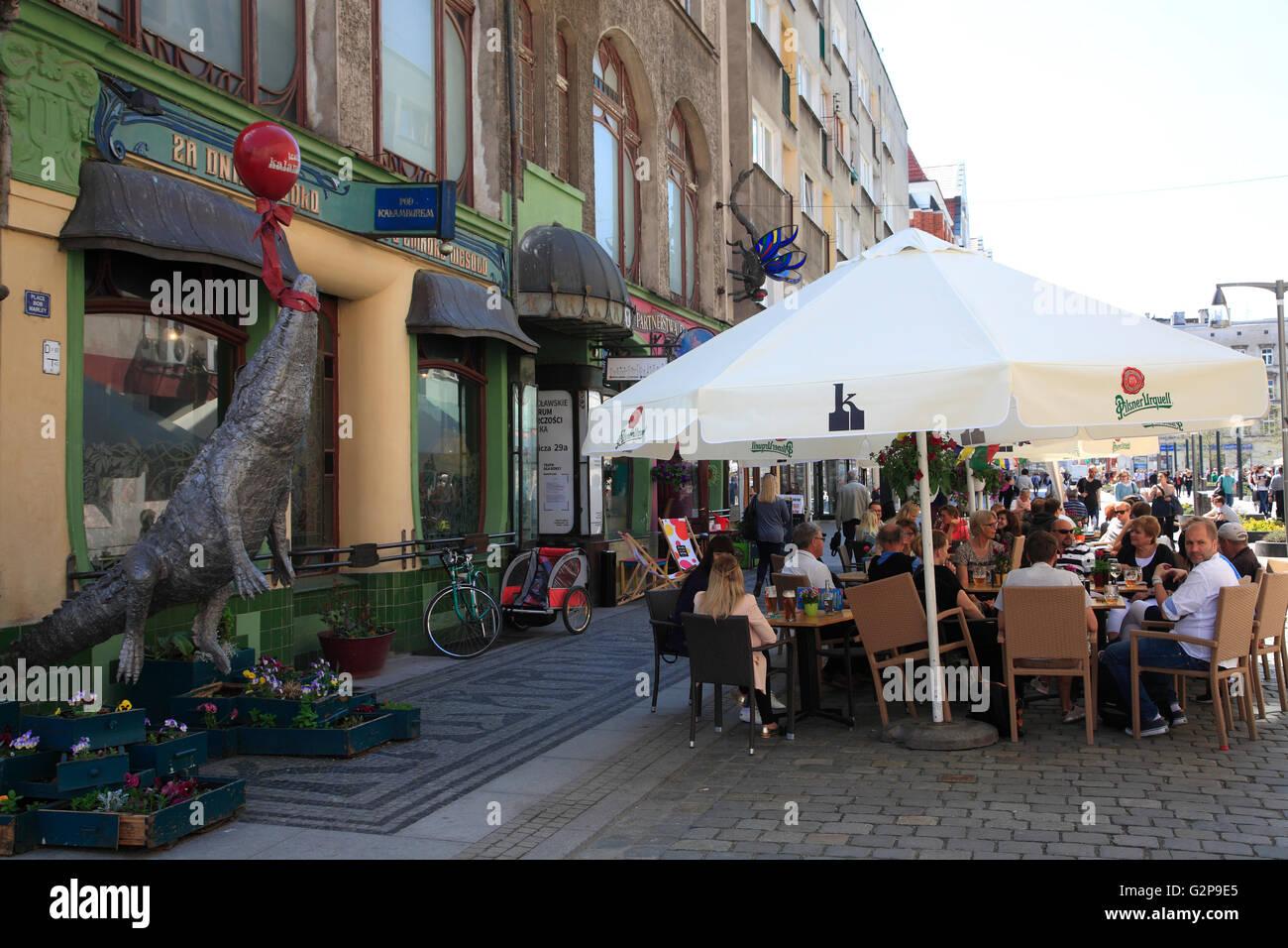 Art cafe und Bar Kalambur, Wroclaw, Silesia, Poland, Europe - Stock Image