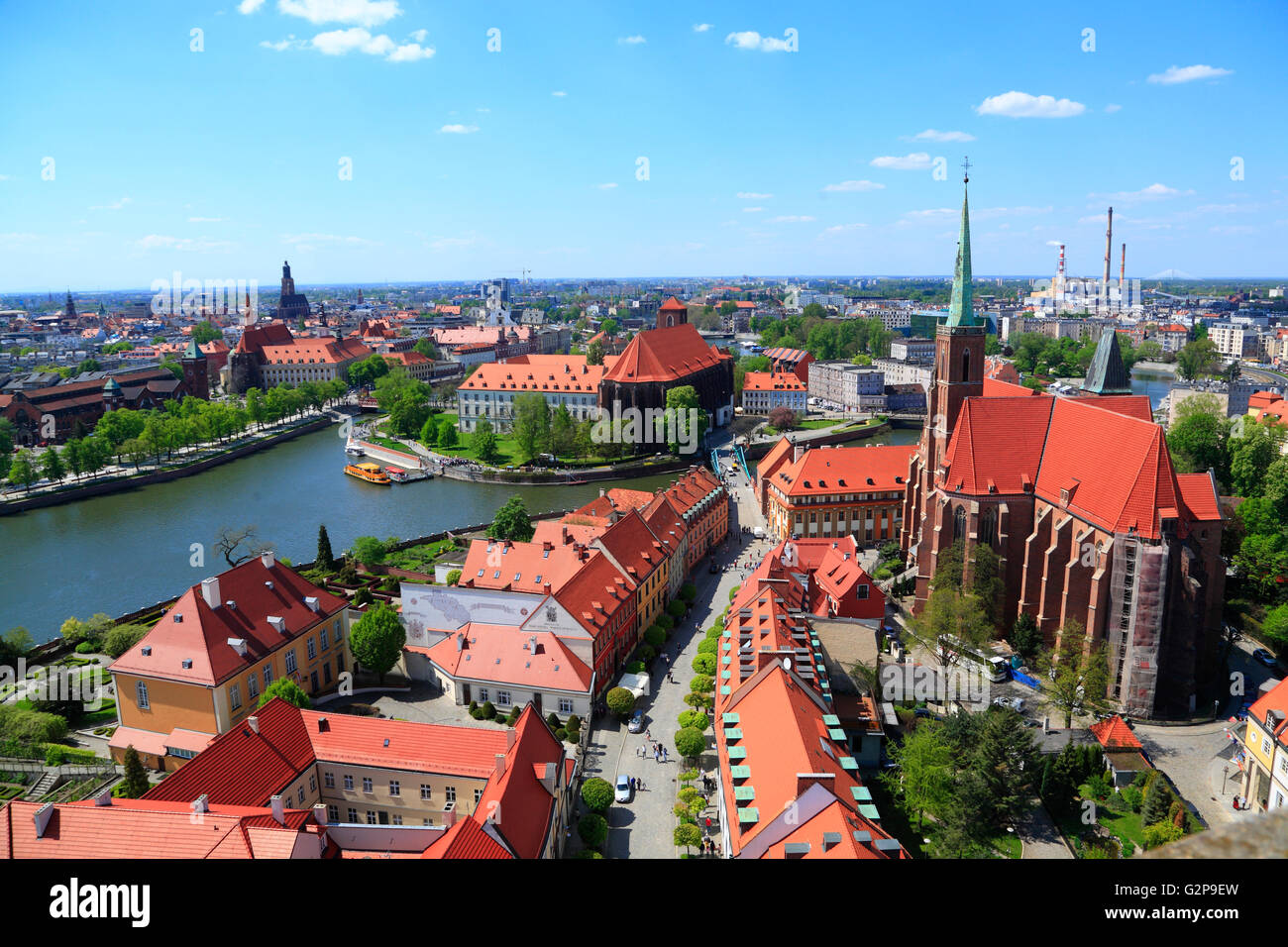 View from St. Johns Cathedral, Wroclaw, Silesia, Poland, Europe - Stock Image