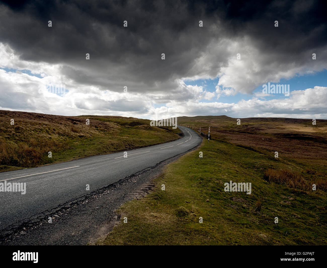 Crossing the North Pennines on the Cumbria and Durham borders, UK - Stock Image
