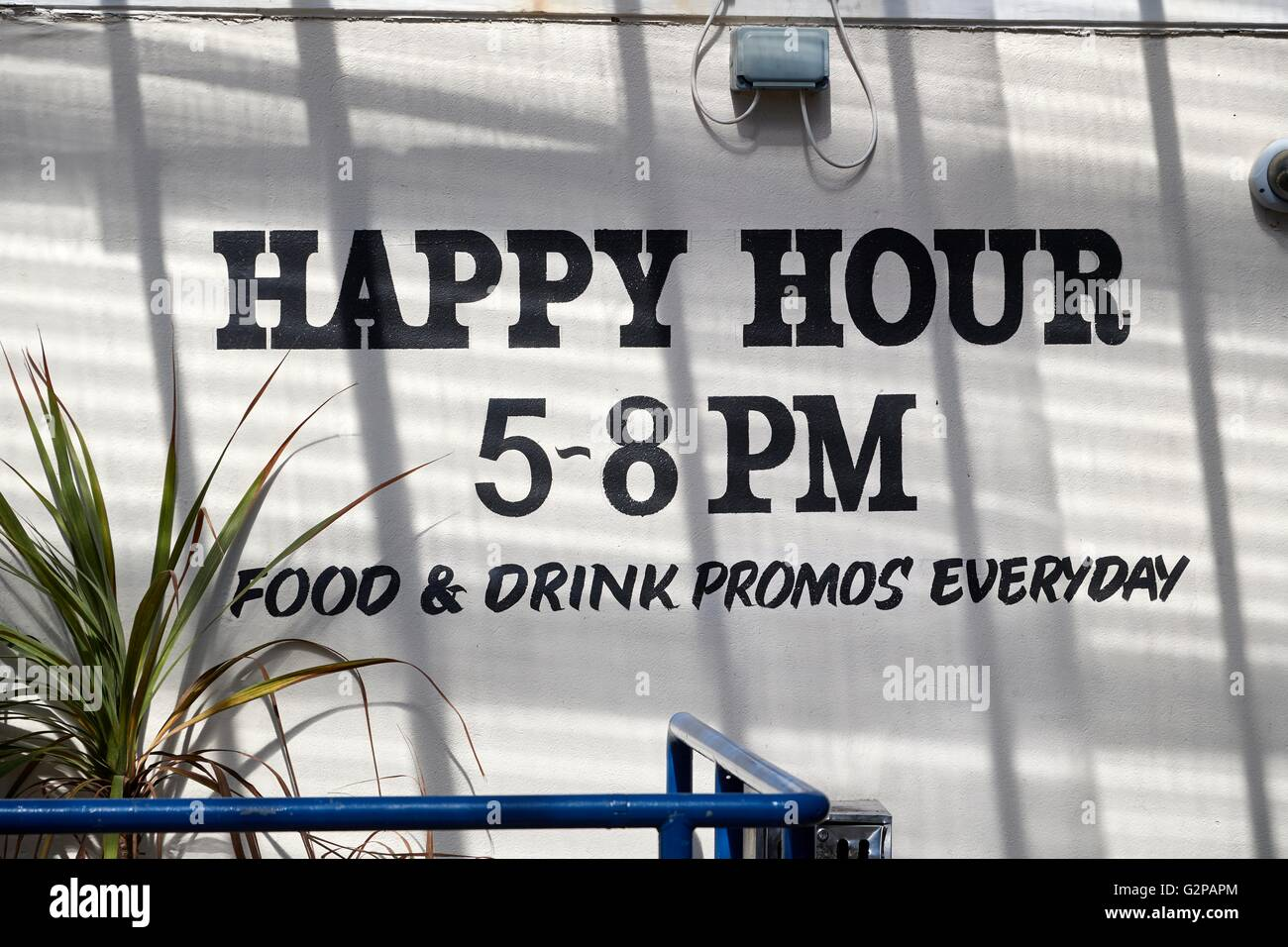 Comical sign outside a public house in Newquay, Cornwall,England - Stock Image