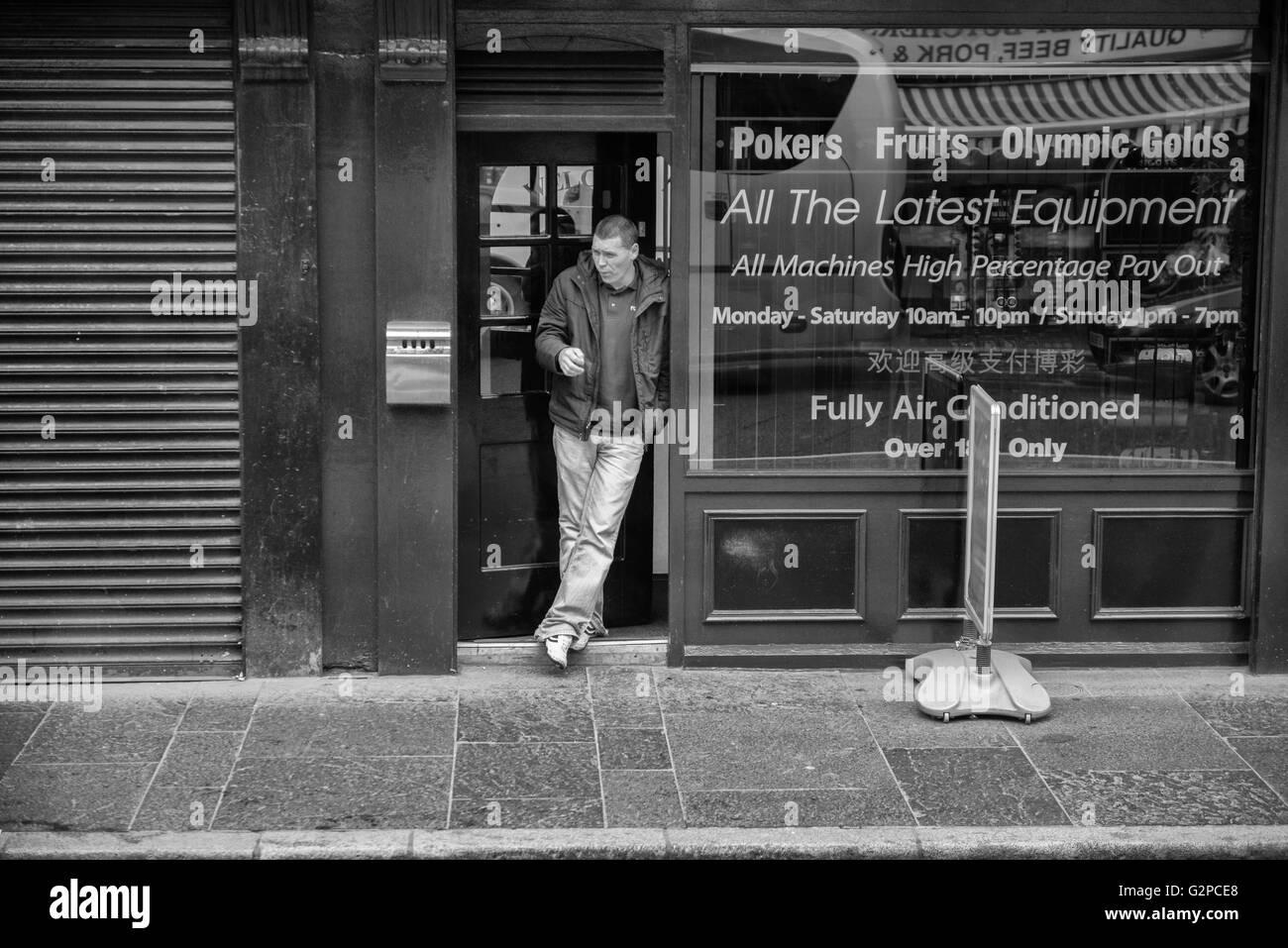 Fun Time gambling arcade. Belfast. Northern Ireland. UK - Stock Image