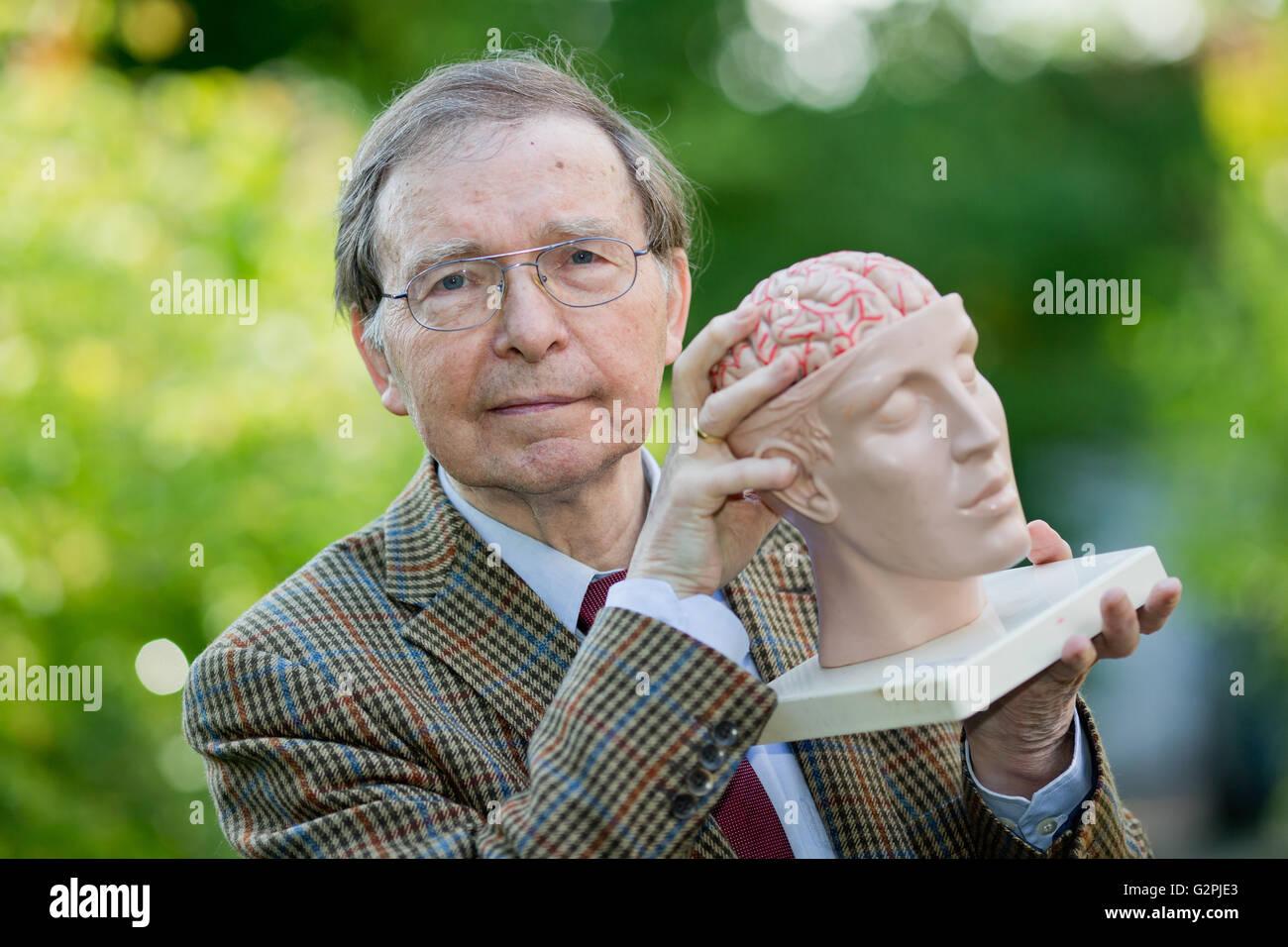 Erlangen, Germany. 31st May, 2016. The President of the Society for Brain Training e.V., Siegfried Lehrl, posing - Stock Image
