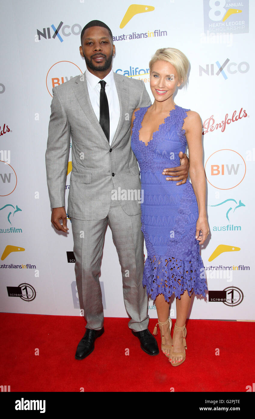 Beverly Hills, CA, USA. 1st June, 2016. 01 June 2016 - Beverly Hills, California - Nicky Whelan with Kerry Rhodes. - Stock Image