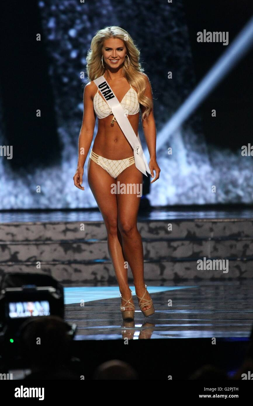 Las Vegas, NV, USA. 1st June, 2016. Miss Utah USA, Teale Murdock in attendance for The 2016 MISS USA Preliminary - Stock Image