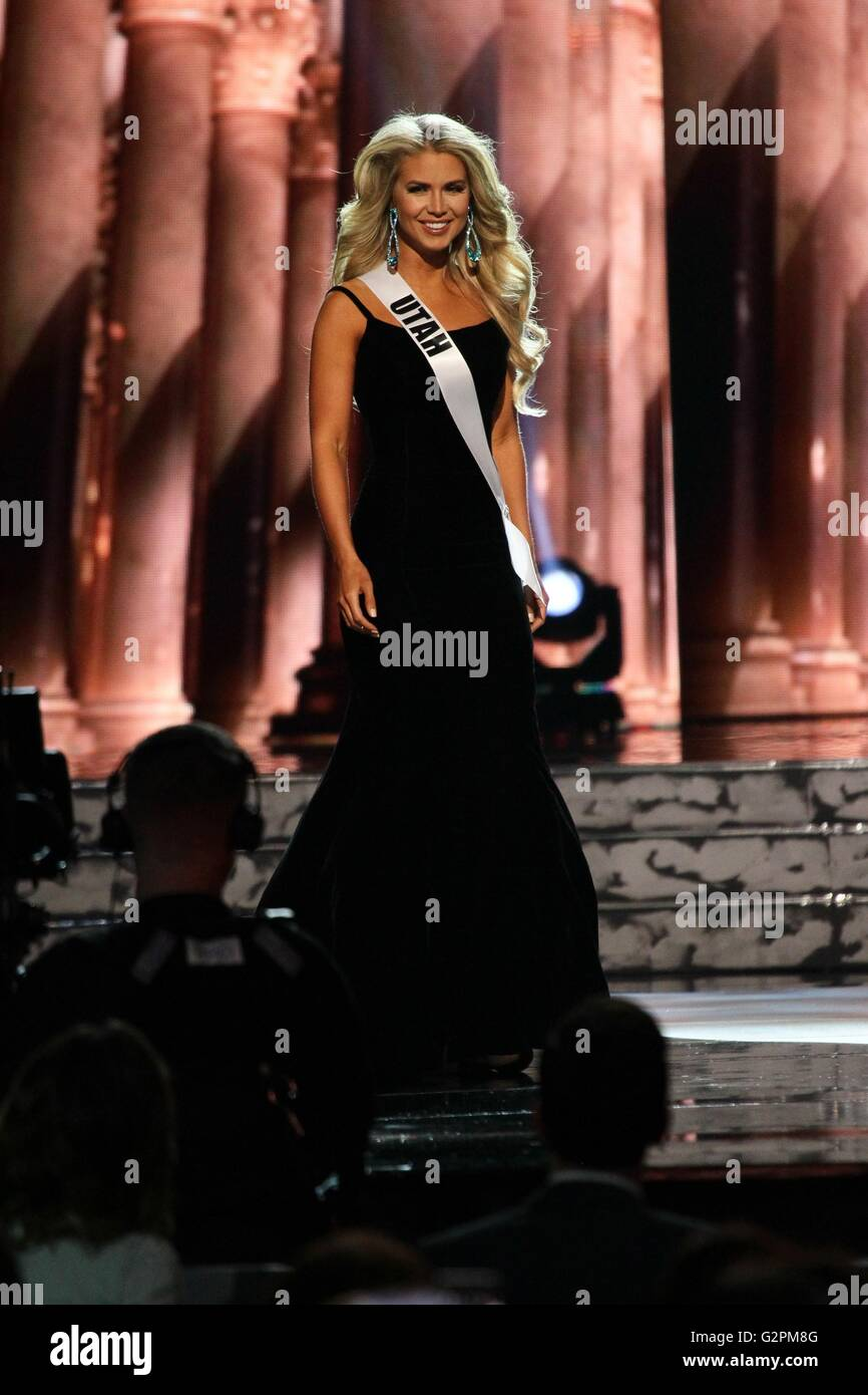 Las Vegas, NV, USA. 1st June, 2016. Miss Utah USA, Teale Murdock in attendance for The 2016 MISS USA Preliminary Stock Photo