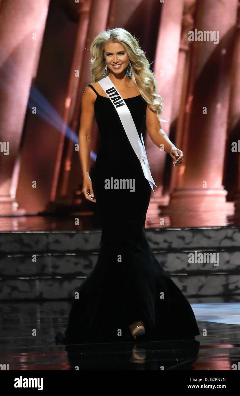 Las Vegas, NV, USA. 1st June, 2016. 01 June 2016 - Las Vegas, Nevada - Miss Utah, Teale Shawn Murdock. 2016 Miss - Stock Image