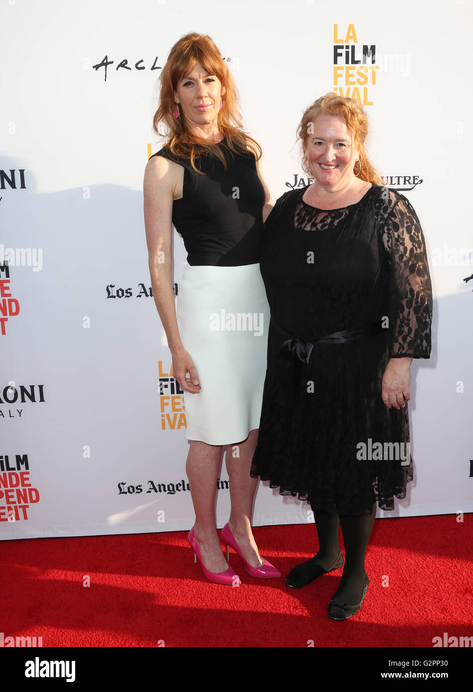 Hollywood, CA, USA. 1st June, 2016. 01 June 2016 - Hollywood, Kate Nowlin, Rusty Schwimmer. 2016 Los Angeles Film Stock Photo
