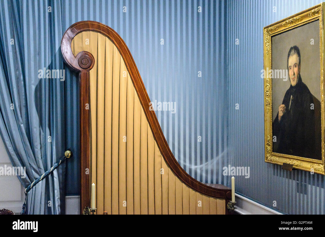 Madrid, Spain, 2nd June 2016.  Indoors view of the Romanticism Museum in Madrid, Spain. Enrique Davó/Alamy - Stock Image