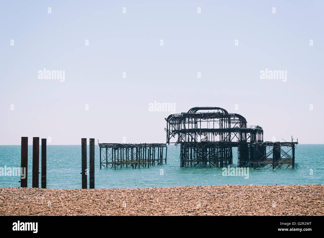The Old Pier. - Stock Image