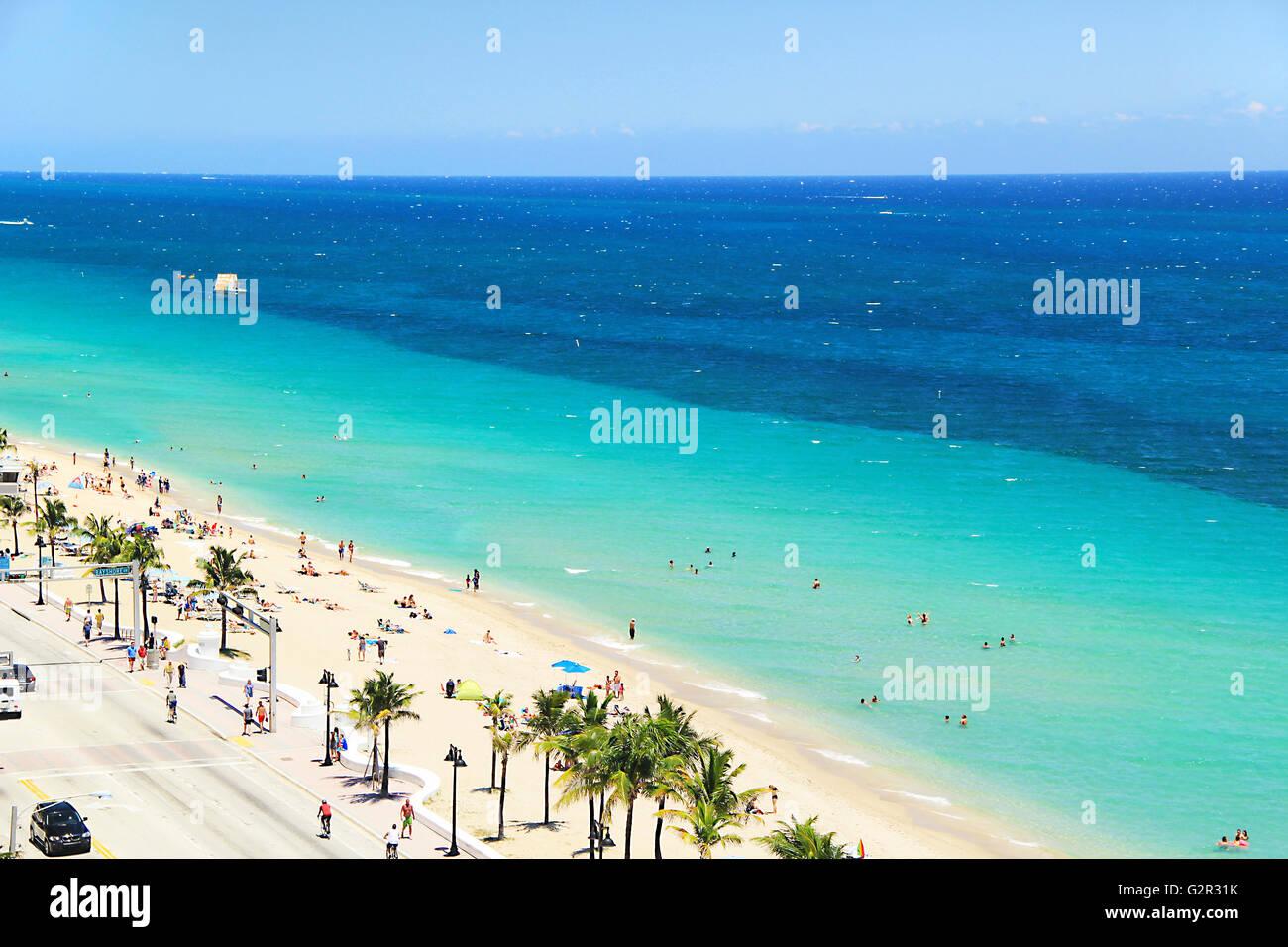 Fort Lauderdale Beach near Miami, Florida USA Stock Photo