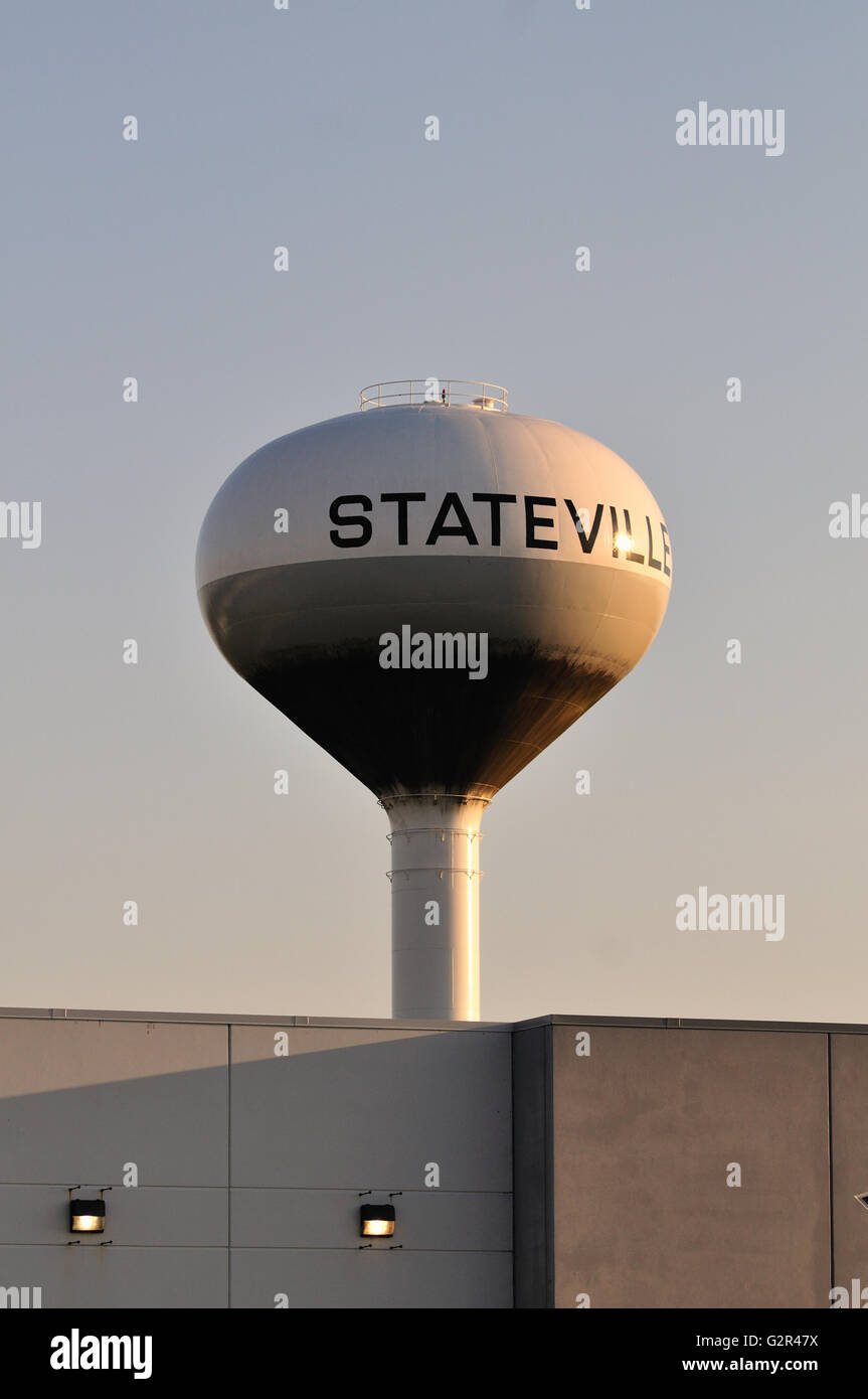 Water tower at Stateville Correctional Institution, a maximum security prison in Crest Hill, Illinois. USA. - Stock Image